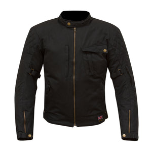 Merlin Elmhurst Wax Cotton Waterproof Jacket - Black - Urban Nomads Motorcycle Clothing