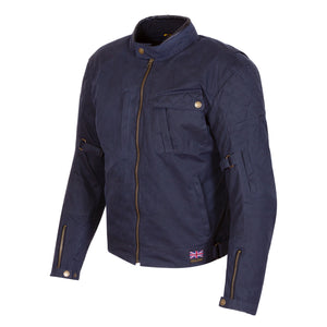 Merlin Elmhurst Wax Cotton Waterproof Jacket - Navy - Urban Nomads Motorcycle Clothing