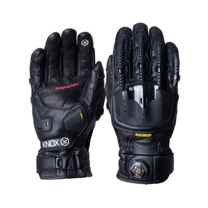 Handroid Pod MKIV Leather Gloves - Black - Urban Nomads Motorcycle Clothing