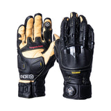 Handroid Pod MKIV Leather Gloves - Black/Tan - Urban Nomads Motorcycle Clothing