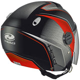 Held Top Spot Open Face Helmet - Black/Red - Urban Nomads Motorcycle Clothing