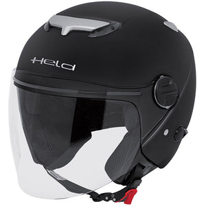 Held Top Spot Open Face Helmet - Gloss Black - Urban Nomads Motorcycle Clothing