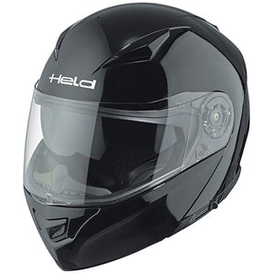 Held Travel Champ 2 Flip-Up Helmet - Gloss Black - Urban Nomads Motorcycle Clothing