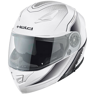 Held Travel Champ 2 Flip-Up Helmet - White Deco - Urban Nomads Motorcycle Clothing
