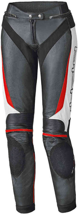 Held Lane 2 Ladies Leather Trousers - Black/Red/White - Urban Nomads Motorcycle Clothing