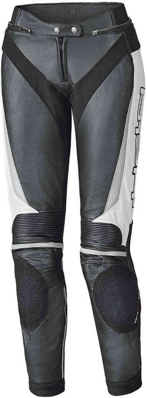 Held Lane 2 Ladies Leather Trousers - Black/White - Urban Nomads Motorcycle Clothing