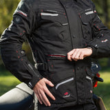 Merlin Lynx 2-in-1 Outlast Waterproof Jacket - Black - Urban Nomads Motorcycle Clothing