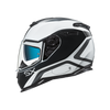 Nexx SX.100 Helmet - Pop Up White/Black - Urban Nomads Motorcycle Clothing