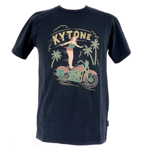 KYTONE 'Surfing' T Shirt - Black - Urban Nomads Motorcycle Clothing