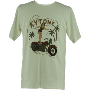 KYTONE 'Surfing' T Shirt - White - Urban Nomads Motorcycle Clothing