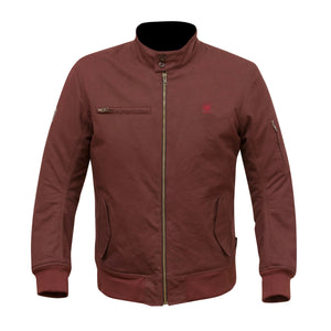 Merlin Wesley Harrington Summer Jacket - Burgundy - Urban Nomads Motorcycle Clothing