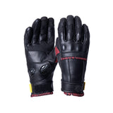 Knox Whip Ladies Urban Gloves - Black/Oxblood - Urban Nomads Motorcycle Clothing