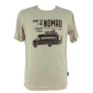 KYTONE 'Dare to be Nomad' T Shirt - Beige - Urban Nomads Motorcycle Clothing