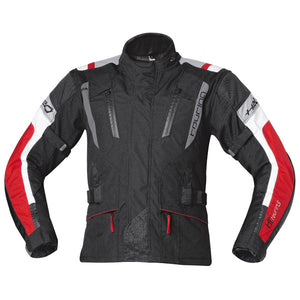 Held 4-Touring (4 Season) Textile Jacket - Black / Red - Urban Nomads Motorcycle Clothing