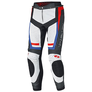 Held Rocket 3.0 Leather Trousers - White/Red/Blue - Urban Nomads Motorcycle Clothing