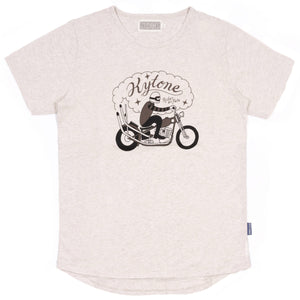 KYTONE 'MOTO1' T Shirt - Beige - Urban Nomads Motorcycle Clothing