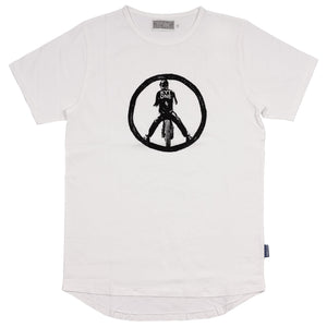 KYTONE 'Peace' T Shirt - White - Urban Nomads Motorcycle Clothing