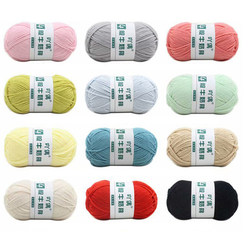 50g/ball Milk Cotton Knitting Yarn Soft Warm Baby Yarn DIY Crochet Yarn  for Hand Knitting Supplies