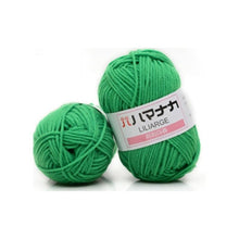 Load image into Gallery viewer, Milk Cotton Yarn Comfortable Wool Blended Yarn Apparel Sewing Yarn Hand Knitting Scarf Hat Yarn crochet knitting yarn