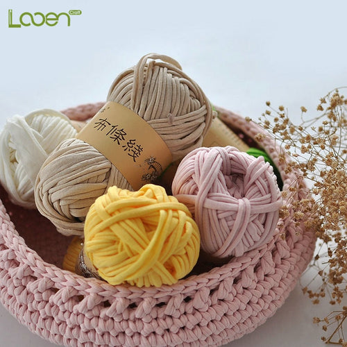 1 PC 100g/pcs 30M Looen Knitting Thick Thread Crochet Cloth Yarn DIY Bag Handbag Carpet Cushion Cotton Cloth T-Shirt