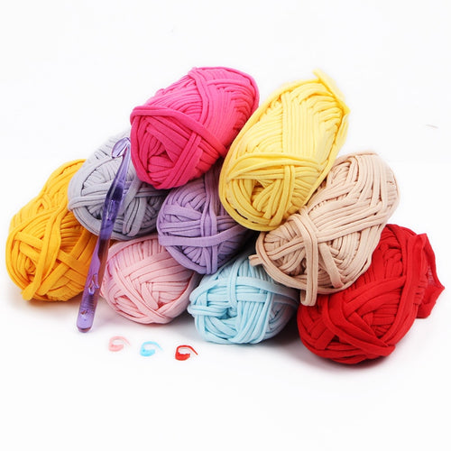 100g Soft Cotton T Shirt Yarn for Crochet Hook Knitting Blanket Carpet Handbag Cloth Yarn for Hand Thick Knitting Chunky Yarn