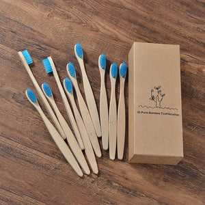 New design mixed color bamboo toothbrush