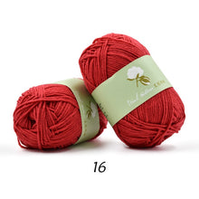 Load image into Gallery viewer, yarn for knitting 100% cotton skin-friendly hand knitting yarn lana trapillo para tejer crochet thread 30/lot wholesale