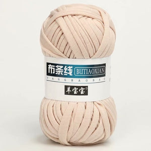 100g/Lot Thick Yarn Soft Colored Cloth Yarn for Hand Knitting Woven Bag Carpet DIY Hand-knitted Material