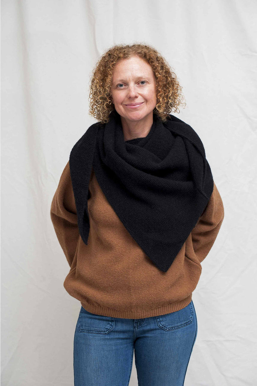 ALICE Black Wrap Scarf