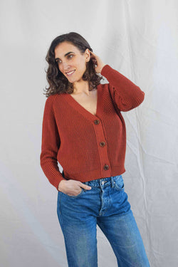 ANNA Terra Cotton Cardigan