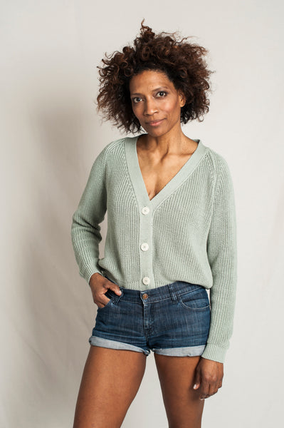 L'Envers - Anna Organic Cotton Sweater - GOTS certificated - Color Sage Green - Preview Picture