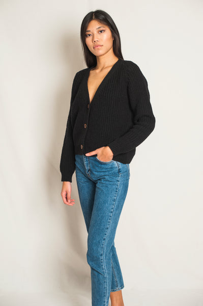 L'Envers - Anna Spanish Wool Cardigan - Non Mulesed Certificated - Color Black - Font Picture