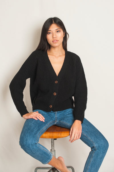 L'Envers - Anna Spanish Wool Cardigan - Non Mulesed Certificated - Color Black - Preview Picture