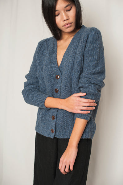 L'Envers - Annie Spanish Wool Cardigan - Non Mulesed Certificated - Color Sky Blue - Preview Picture