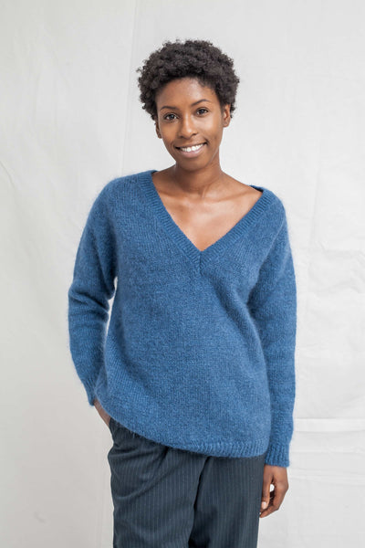 BARBARA Blue Sweater