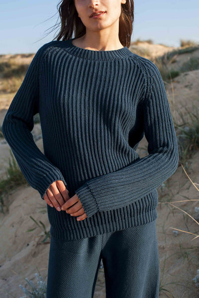 BRIGITTE Navy Blue Sweater