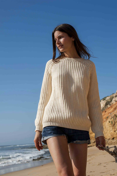 BRIGITTE Off-White Cotton Sweater