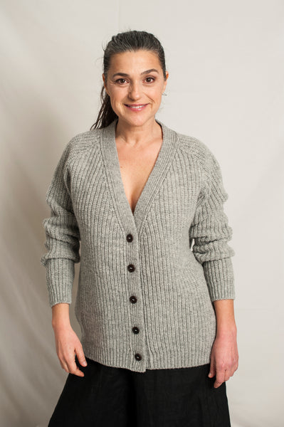 L'Envers -  Claude Spanish Wool Cardigan - Non Mulesed Certificated - Color Light Grey - Preview Picture