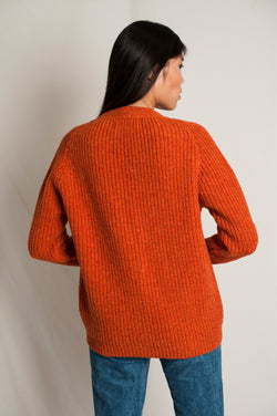 L'Envers -  Claude Spanish Wool Cardigan - Non Mulesed Certificated - Color Cooper - Back Picture