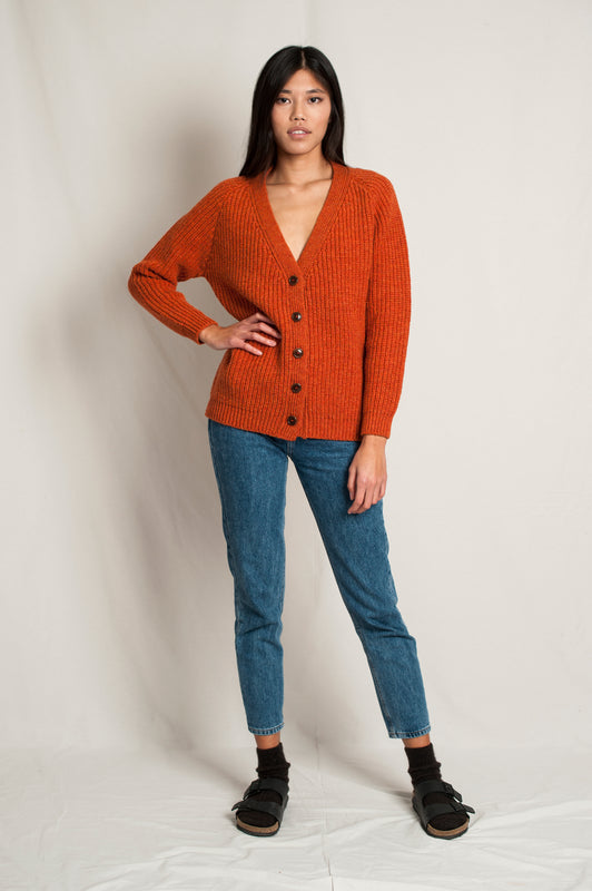 L'Envers -  Claude Spanish Wool Cardigan - Non Mulesed Certificated - Color Cooper - Font Picture