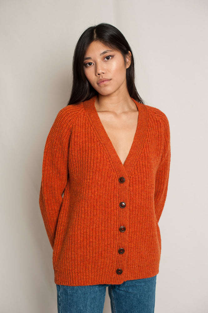 L'Envers -  Claude Spanish Wool Cardigan - Non Mulesed Certificated - Color Cooper - Preview Picture