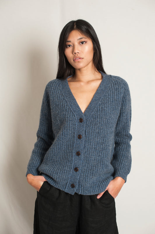 L'Envers - Claude Spanish Wool Cardigan - Non Mulesed Certificated - Color Sky Blue - Preview Picture