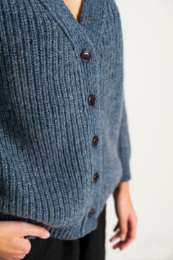 L'Envers - Claude Spanish Wool Cardigan - Non Mulesed Certificated - Color Sky Blue - Zoom Picture