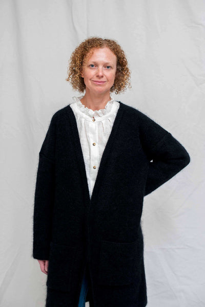EMMANUELLE Black Cardigan / NEW