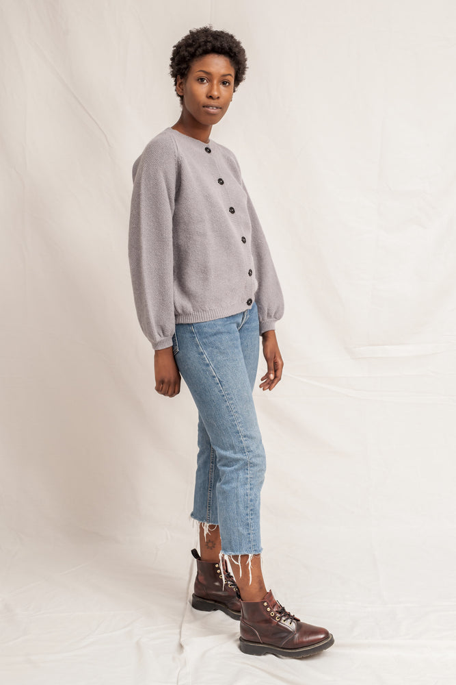 GABY Light Grey Cardigan