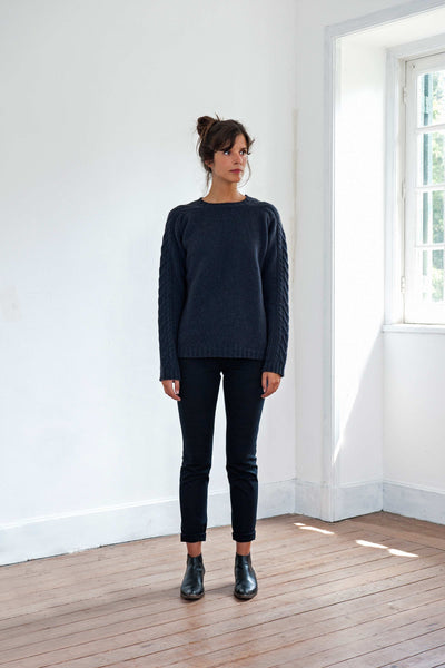 JANE & SERGE Navy Blue Sweater