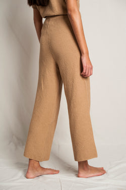 L'Envers - Louise Organic Cotton Pants - GOTS certificated - Color Cappuccino - Back Picture