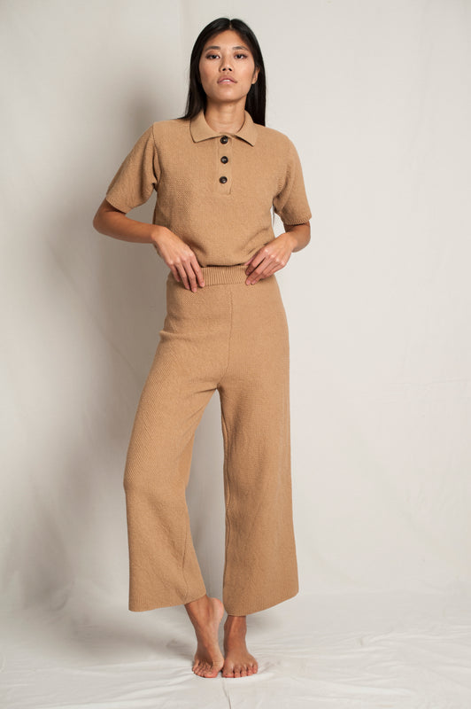 L'Envers - Louise Organic Cotton Pants - GOTS certificated - Color Cappuccino - Preview Picture