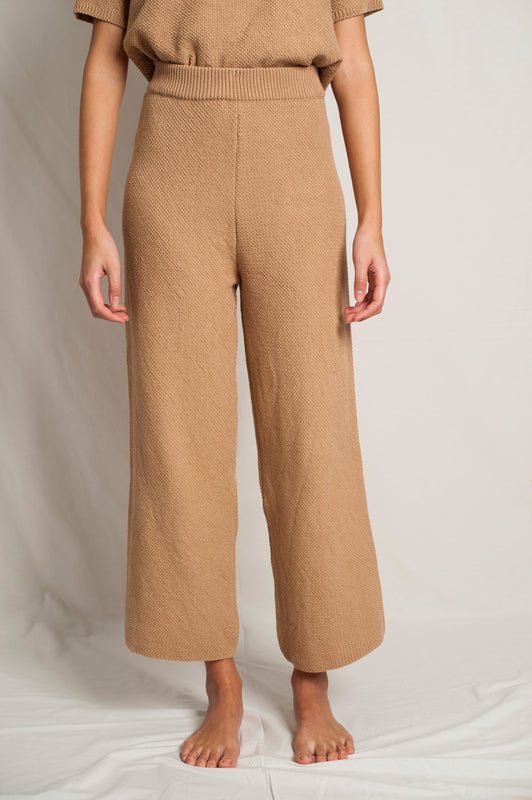 L'Envers - Louise Organic Cotton Pants - GOTS certificated - Color Cappuccino - Zoom Picture