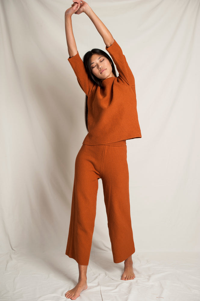 L'Envers - Marguerite Organic Cotton Top - GOTS certificated - Color Ocre - Preview Picture